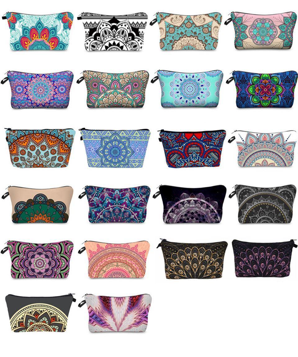 Mandala Print Collection Cosmetic Bag weibliche Kupplung Multifunktions Spielraum-Speicher-Beutel-freies Verschiffen