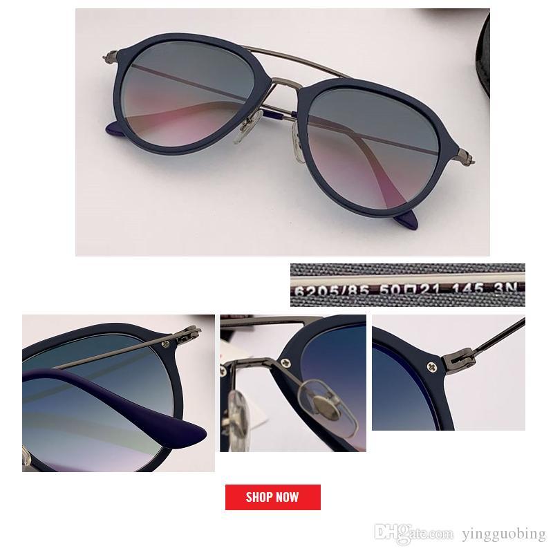 2019 Retro Marka Güneş Gözlüğü Çerçevesiz Gözlük Kahverengi Tasarım Vintage Cam G15 Degrade Lens Kadınlar için Güneş UV400 Tasarımcı Gafas Oculo IGCP
