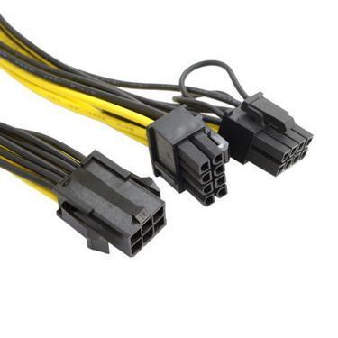 100pcs Molex 6 pin PCI Express to dua 2 x PCIe 8 (6+2) pin Motherboard Video Card PCI-e VGA Splitter Hub Power Cable