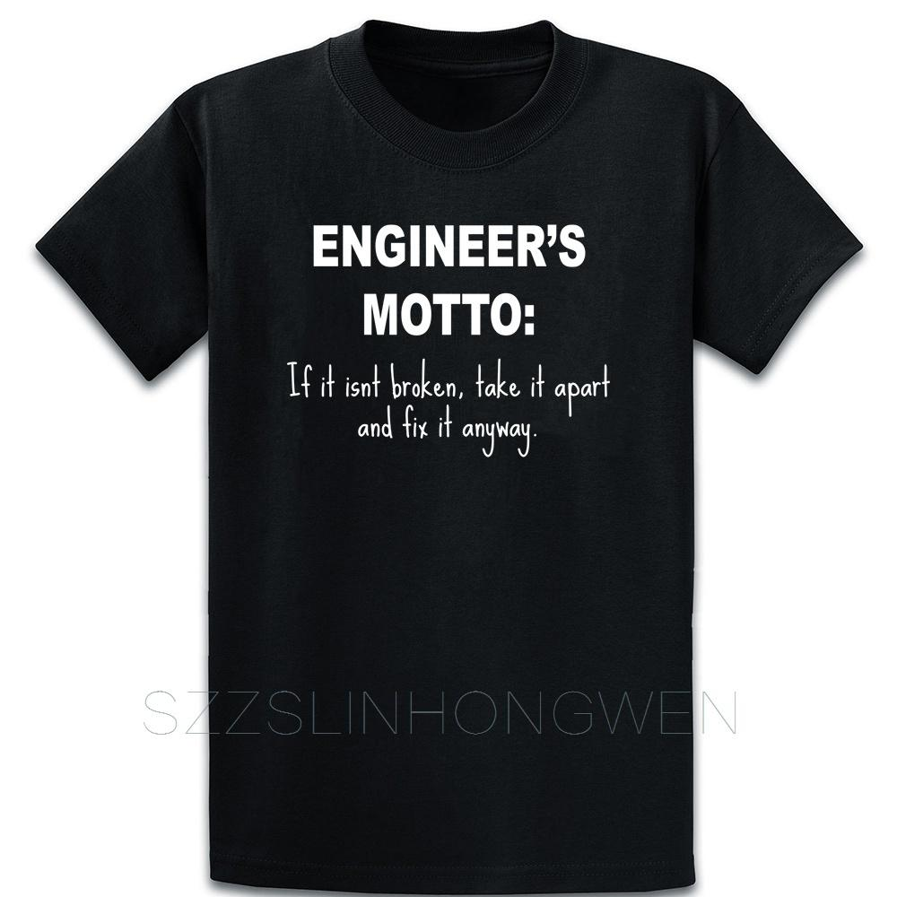 Engineers Motto If It Aint Broken T Shirt Letter Crew Neck Fitness Printed Spring Short Sleeve Comical Homme Shirt