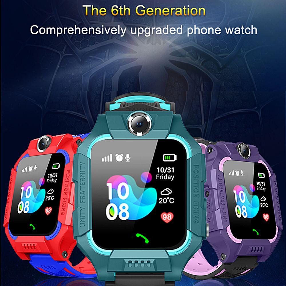 Tracker Çocuk Z6 Akıllı SOS IP67 Hayat Su Geçirmez Smartwatch SIM Kart Bluetooth 2G İzle Çocuklar Lbs Android Smartphone JTPXP Için