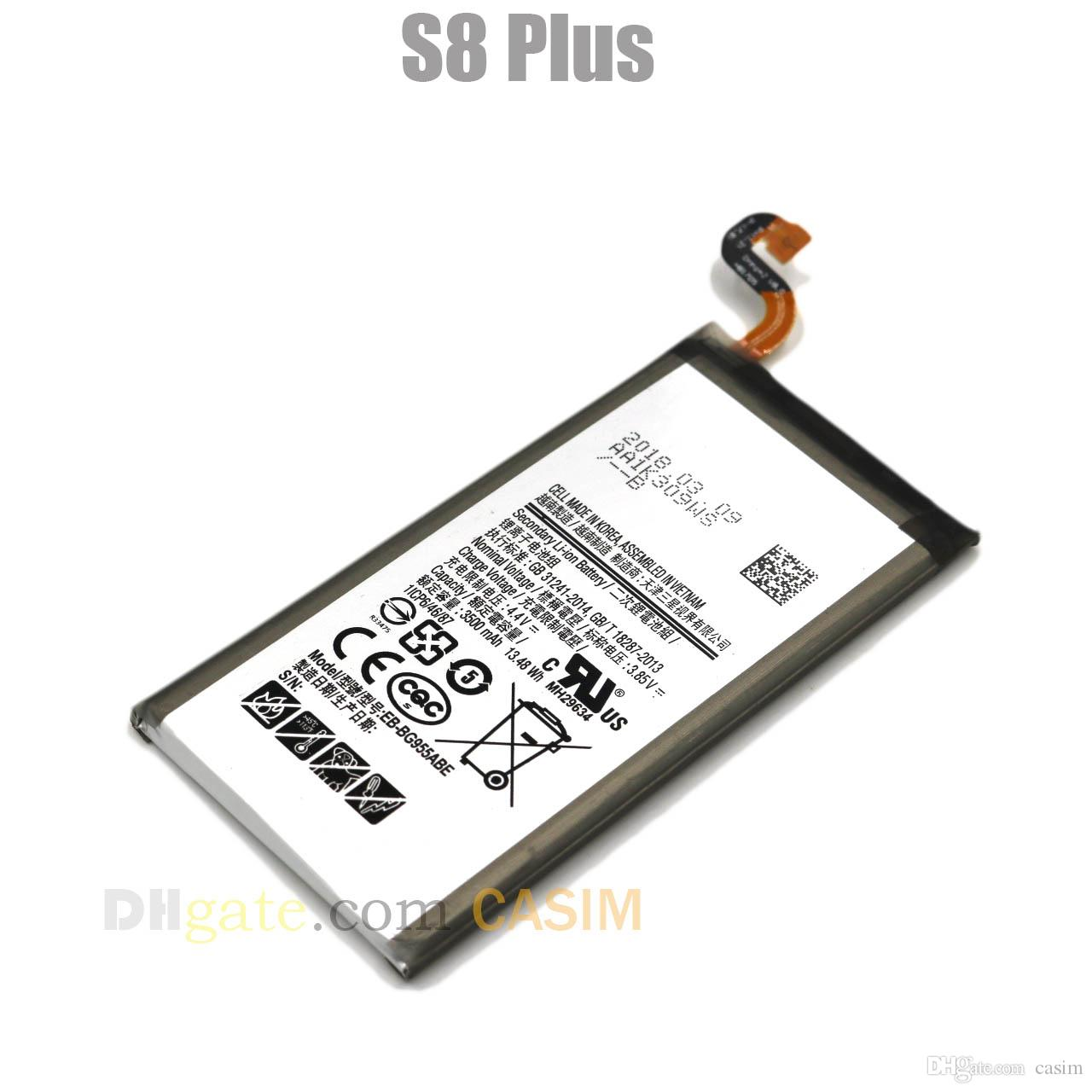 Yeni Yüksek yapılandırma IC Pil Samsung Galaxy S8Plus EB-BG955ABE 3500 mAh Yüksek Kapasiteli Dahili Yedek Batterie Akku