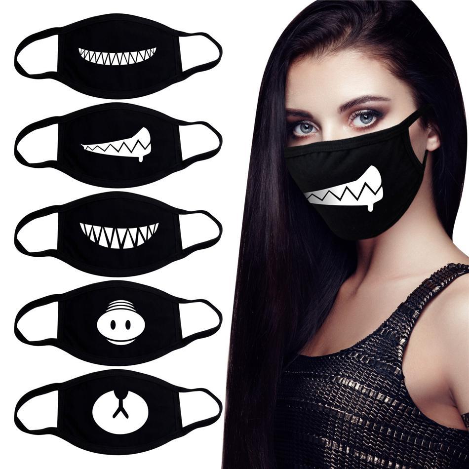 Viso Bocca maschera unisex 20 del camuffamento di stile Bocca-muffola maschera unisex respiratore arresto atmosferico bello del fumetto Cotone