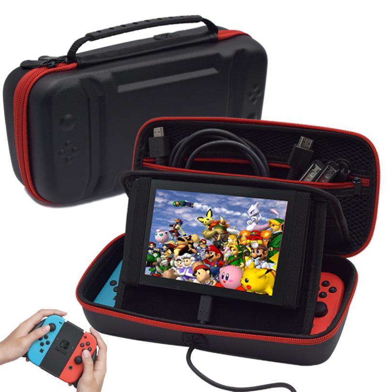 Хранение сумка для Nintendo Переключатель чехол PU портативной консоли игры NS Carry сумка Платно Hole Стенд игры Аксессуары