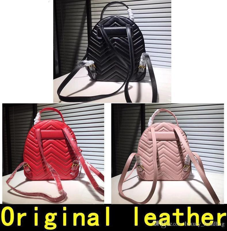 Marmont Designer High Quality Handbags Famous Brands Bags Real Original Cowhide Genuine Leather Luxury Backpack