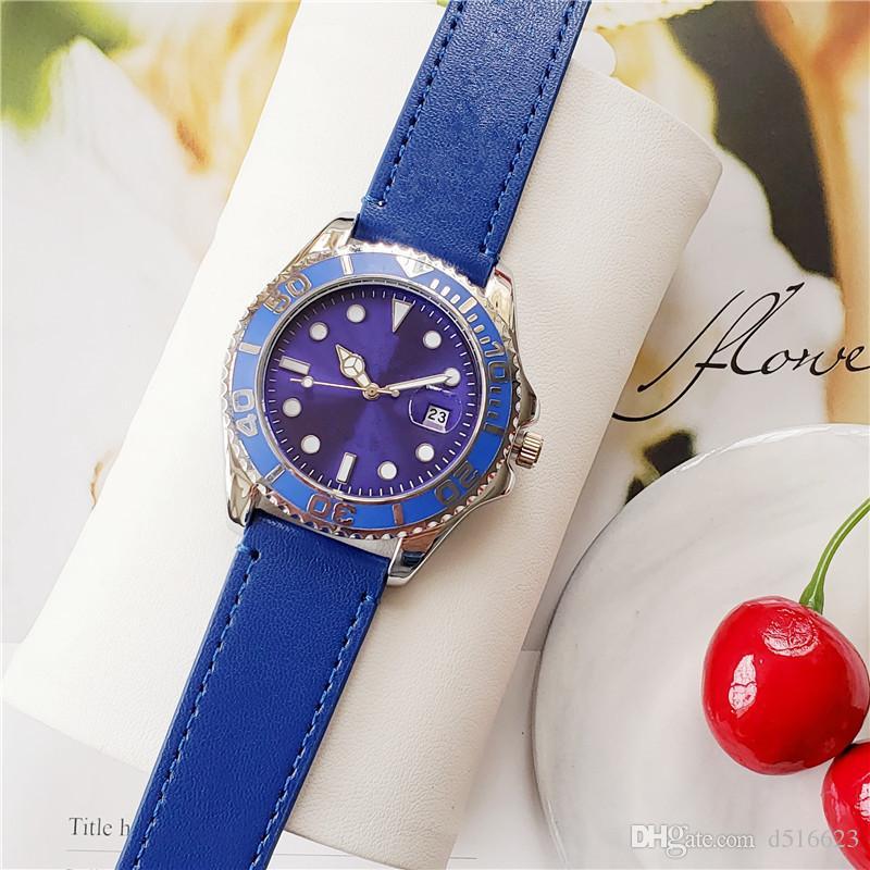 Quente novo 40mm de alta qualidade movimento de quartzo moda casual relógio requintado, relógio dos homens ou relógio das mulheres pulseira de couro