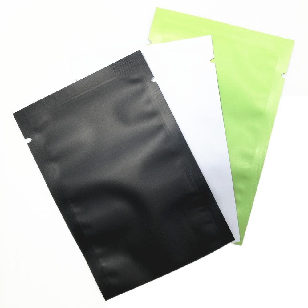 Matte Glossy Flat Open Top Sac de papier d'aluminium sous vide thermoscellage Emballage Sac Pouches café Mylar