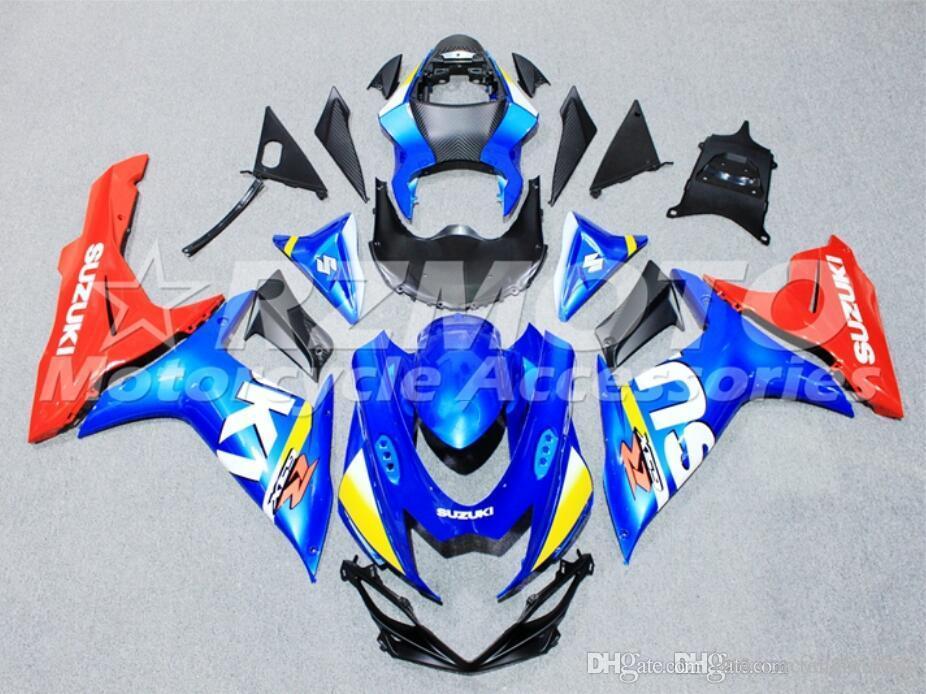(Moulage par injection) pour SUZUKI GSXR600 GSXR750 K11 L1 2011 2012 2013 2014 2015 2016 New ABS moto repsol 100% Fit Bleu Rouge Noir