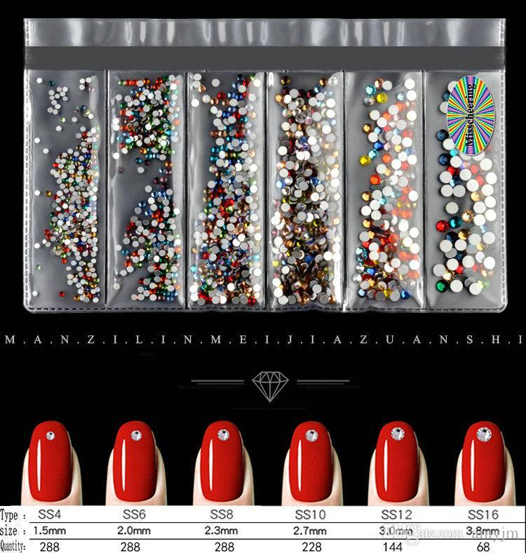 Nail art decoration of swarovski element crystal diamond series drill SS4-SS16 Unique 14 Crystal face manicure drill 10pcs wholesale