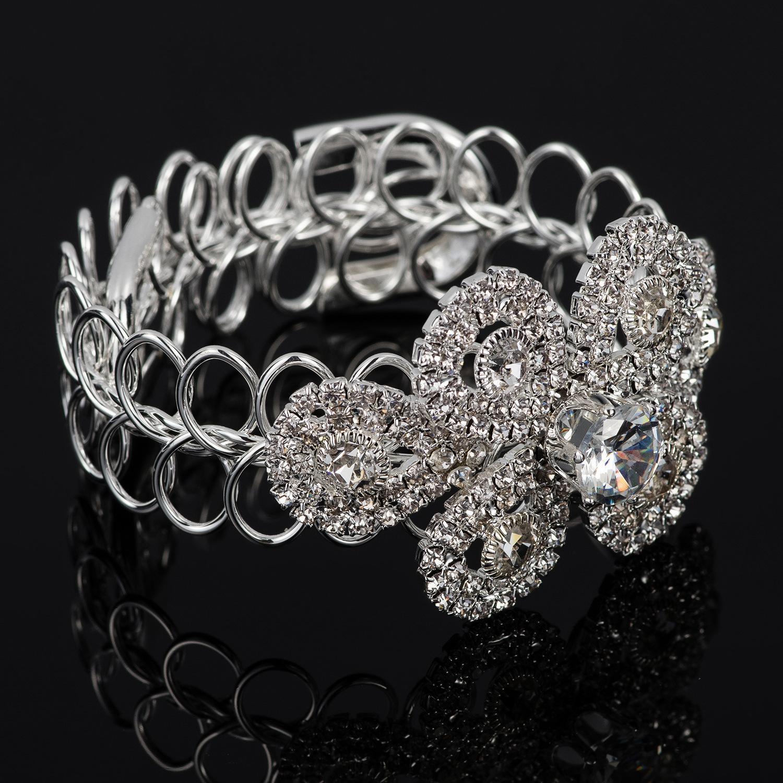 Bijoux exagèrent nerveux Simple A propos de Concise 89081769 Mot printemps métal strass multi-étages Bracelet poignet Bracelet B - 200 Fille