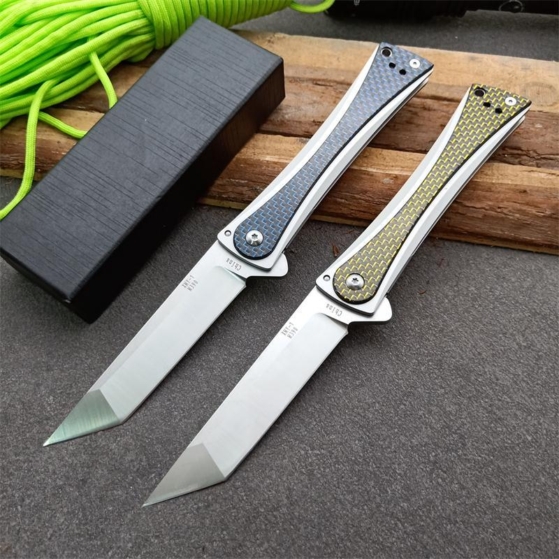 Newer Poison rattan folding knife imported carbon fiber handle copies 1pcs dropshipping freeshipping blade angle <60°