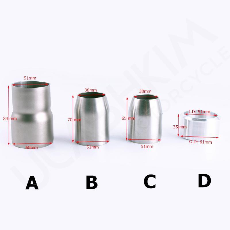 Cono Adaptador Diametro Tubo Escape 60-40mm Exhaust Adapter Cone