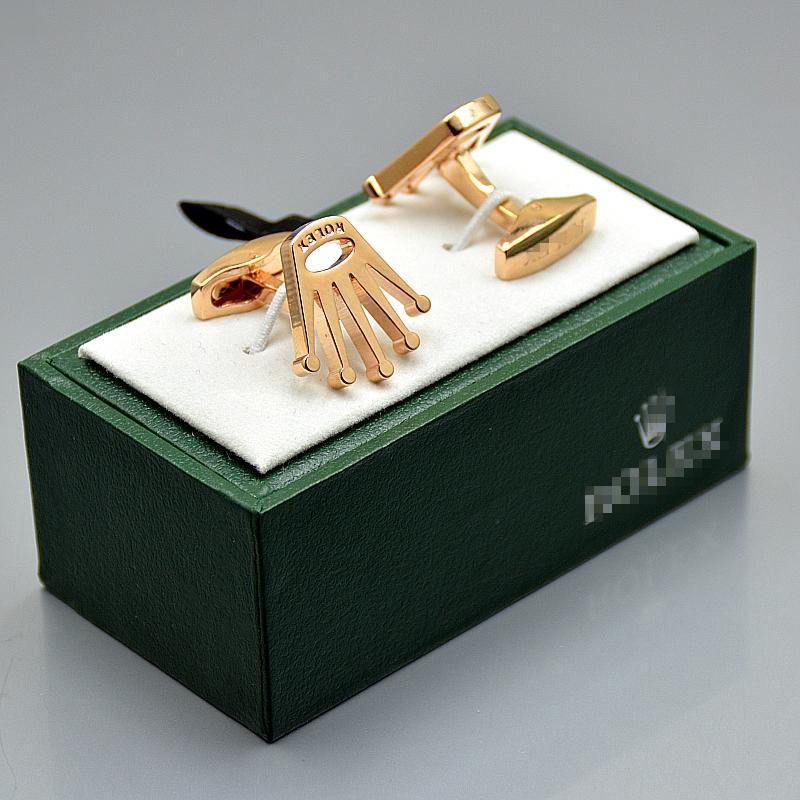 de haute qualité 4 couleurs Rox hommes shirt marié avec boutons de manchette vert Boîte à bijoux Promotion cuivre Boutons de manchette pour cadeau de Noël