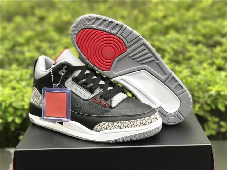 Размер US14 Черный Цемент Серый Белый Огонь Красный 3 О.Г. Человек Баскетбол обувь релиз Мода Спорт кроссовки корабль с коробкой