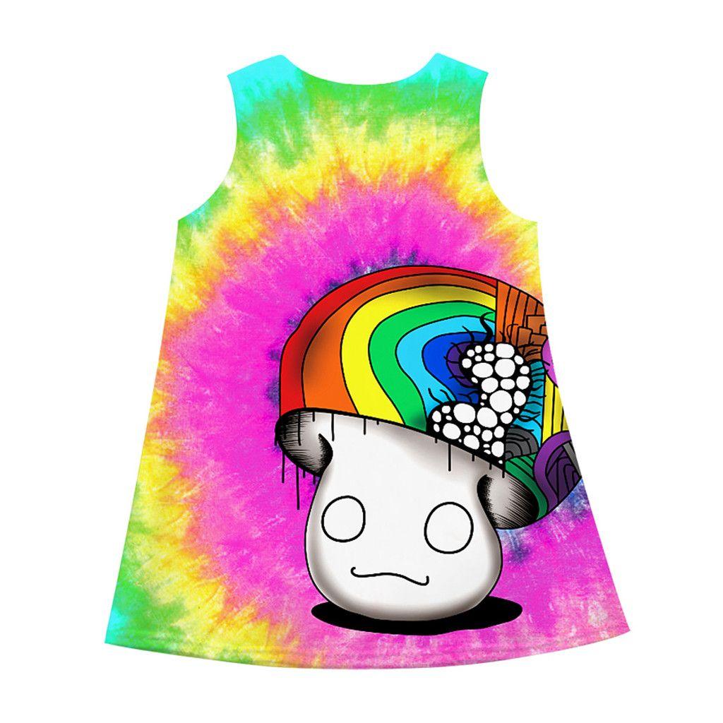 01c1be266b057 2019 2019 Baby Girl Summer Clothes Sleeveless 3D Mushroom Print Princess  Dress Girls Costumes Casual Little Girls Dresses La Robe From Laurul,  &Price; ...