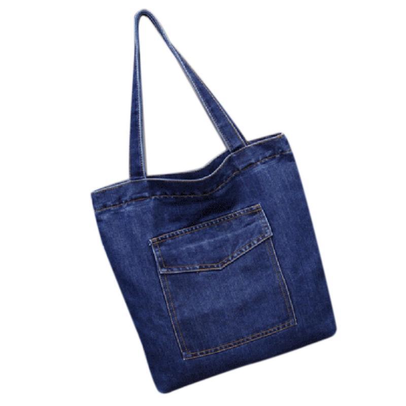 المرأة حقيبة سعة كبيرة عارضة رعاة البقر حقيبة يد البرية قماش الدنيم الكتف حقيبة رفرف التسوق