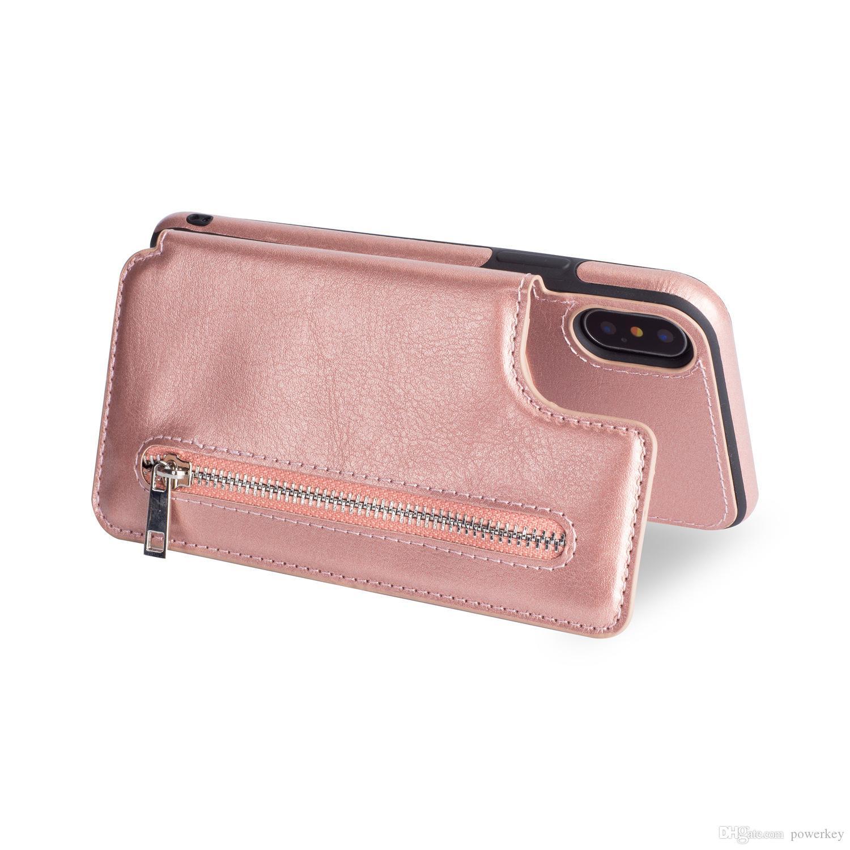 Gute Qualität des heißen Verkaufs für iPhoneXS MAX Reißverschlussmultifunktions-xr Telefonfall Samsung S9 Handyfall-Großhandelspreis