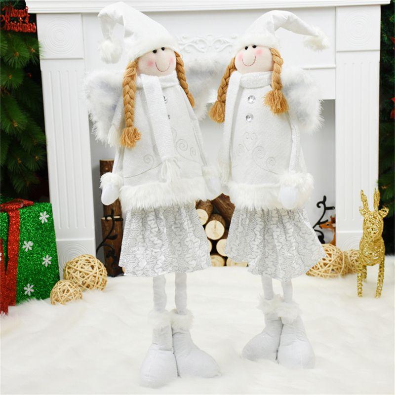 Decoraciones de Navidad de Navidad de juguetes de Navidad para las decoraciones de Navidad Inicio blanca Ángel turística windown Adornos del árbol de navidad Decoración Y191030