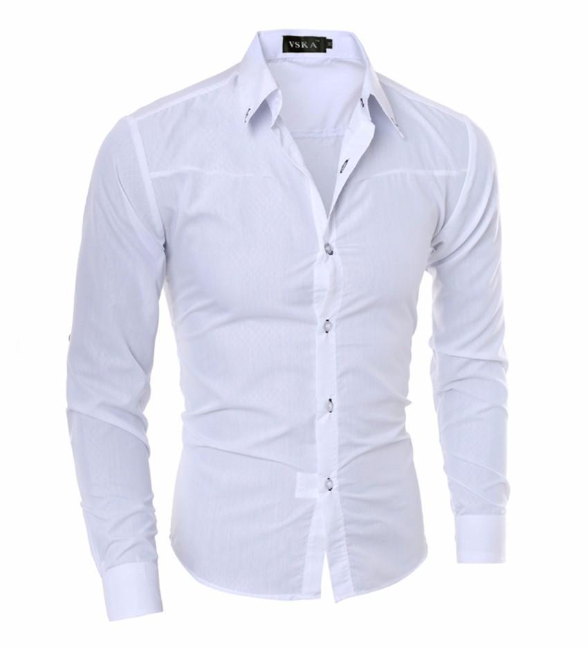 Camisa caliente de la venta de los hombres camisa de los hombres nuevos hombres de negocios sociales Tuxedo manga larga Camisas de ropa informal tamaño asiático 5XL