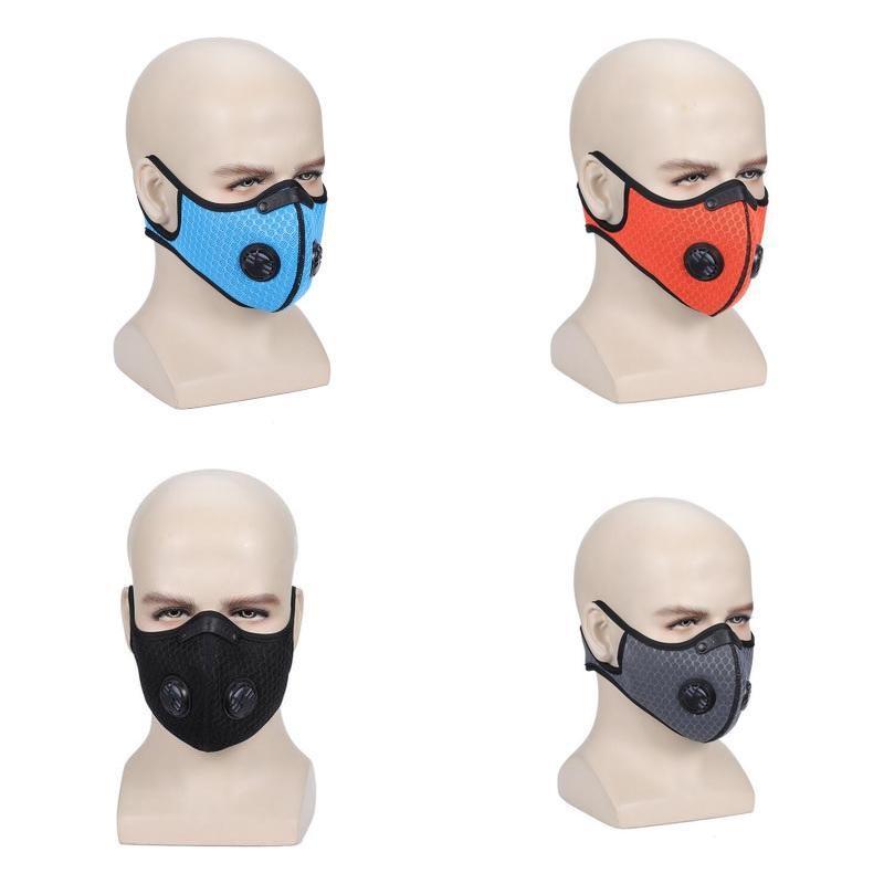 Maske Maske Koruyucu PM2.5 Aktif Karbon Karşıtı Kirliliği toz geçirmez Spor Yüz Maskesi Seti İçin Bay Bayan Çocuk HH9-3024 Filtreler