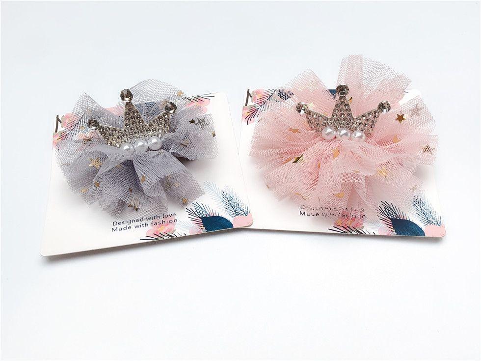 Boutique 10pcs ins Fashion Luxury Rhinestone Tiaras Hairpins Solid Pearl Glitter Crown Lace Hair Clips Princess Headwear Hair Accessories