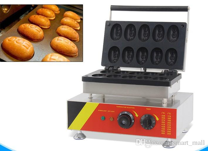 10 adet / zaman Elektrikli Yumurta Shape Waffle makinesi / Ticari Waffle Çubuk Makinası / yumurta waffle makinesi makine LLFA