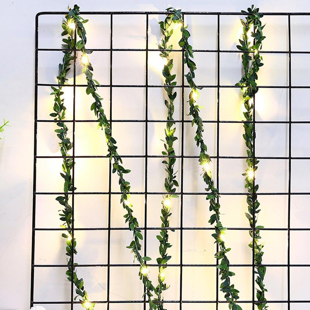 3M의 USB 인공 녹색 등나무 LED 문자열 빛 인공 가짜 식물 화환 홈 정원 벽 장식 웨딩를 Chrismas 장식