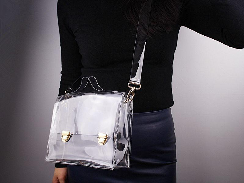 Yeni Moda PVC Şeffaf Çanta Temizle Çanta Bez Omuz Çantası Kadınlar Messenger Çapraz Çanta Açık Telefon Debriyaj Bags4