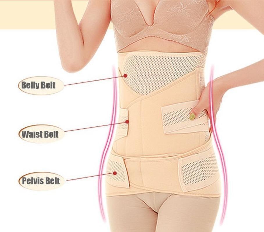 Venta caliente 3In1 vientre / abdomen / pelvis postparto Cinturón de cuerpo Recuperación Cuerpo Shelly Belly Slim Cintura Cinchs Cintura transpirable Trainer Corset