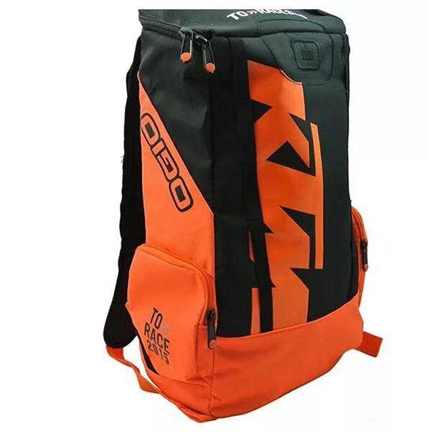 Ktm mochila passeio de moto equipamentos mochila moda motocicleta ao ar livre mochila motocross equitação saco de corridas