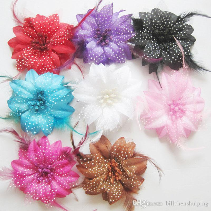 Plastic Flowers Hairpins Hair Clips For Girl Kids Cute Hairgrips Accessories New