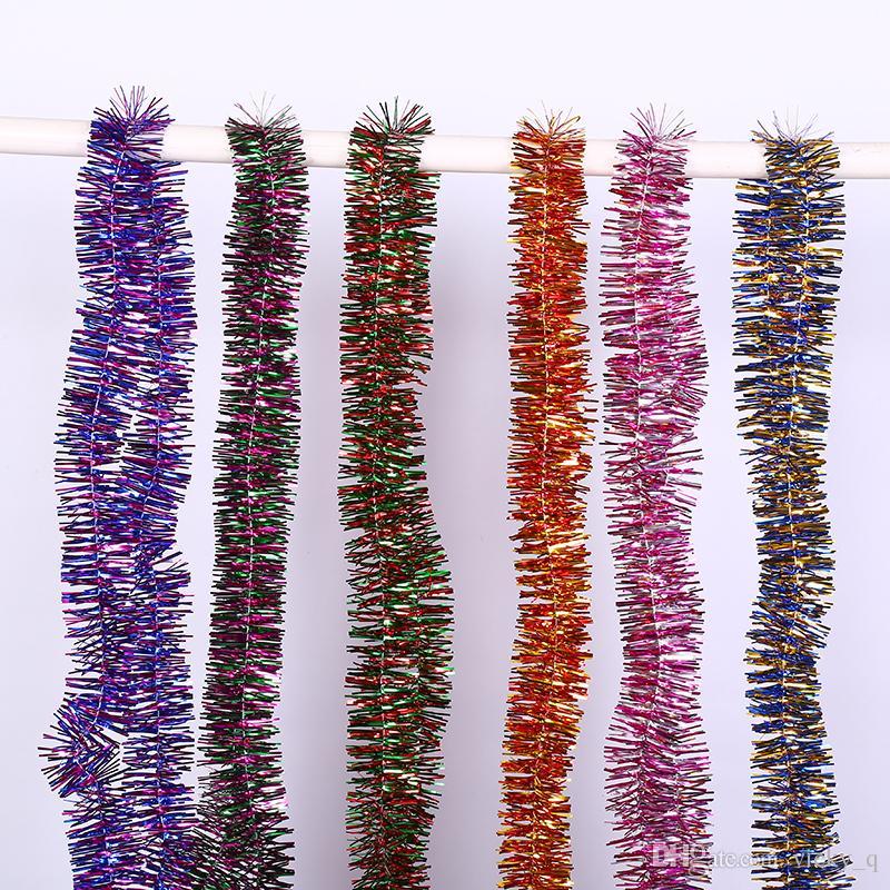 Larghezza 9 cm Mix Colore Tinsel Banner Ghirlanda Decorazione per Matrimonio Natale Party House Giardino appeso forniture albero di Natale