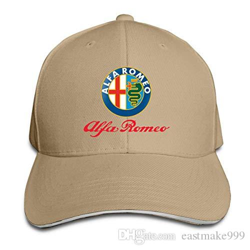 Unisex Alfa Romeo Logo Baseball Cap Adult Adjustable Snapback Hat