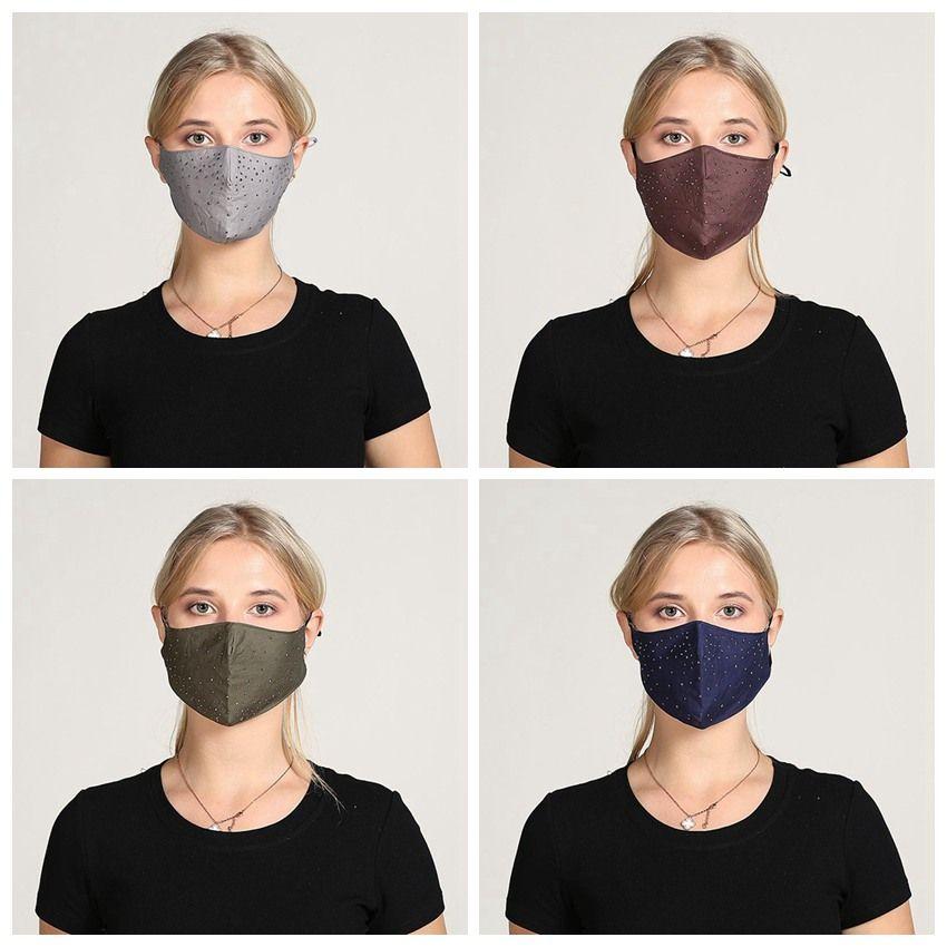 Piercing Mode Masque anti-poussière Haze épreuve Masque de protection avec trou hommes et femmes Masques lavables design réutilisables cyclisme IIA213