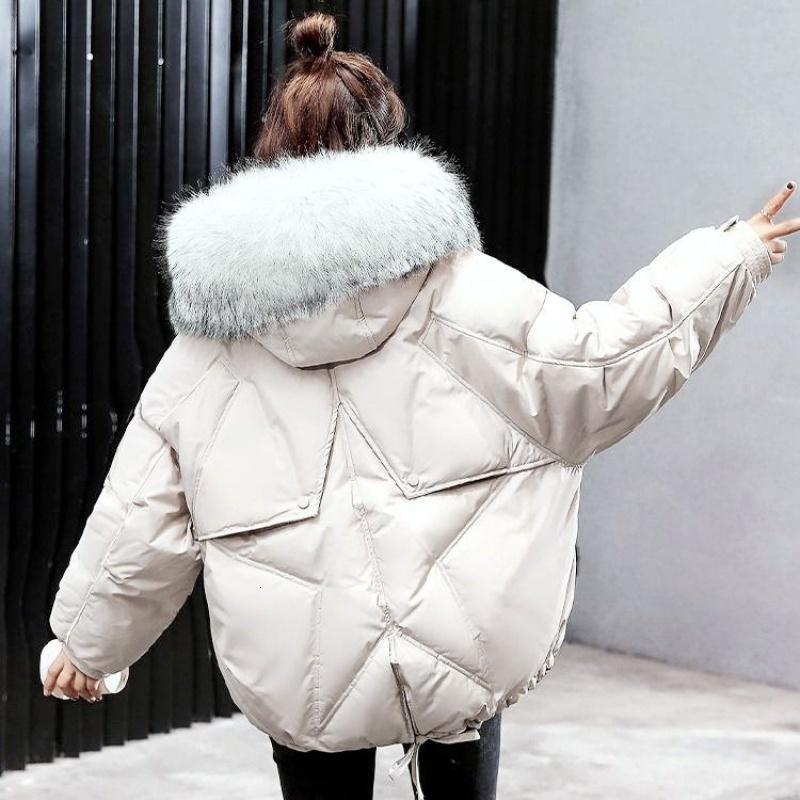 Winter Oversize Winter Puffer Jacket for Women Outerwear Womens Parkas Fur Hooded Cotton Padded Female Coat Warm Outwear