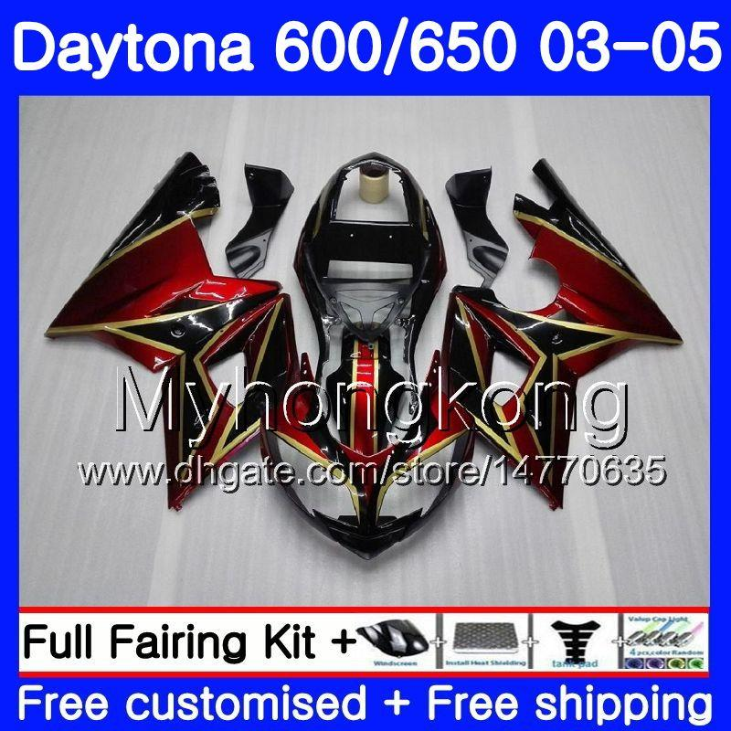 Carroçaria Para Triumph Daytona 600 Daytona 650 600 02 03 04 05 321HM.4 Daytona650 Daytona 600 2002 2003 2004 2005 Carenagem Kit Dark Red Gold