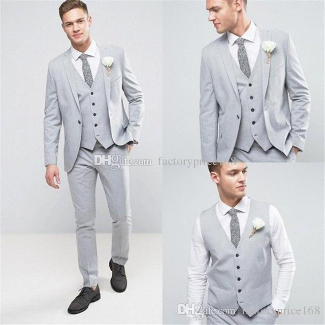 Fashionable One Button Groomsmen Notch Lapel Groom Tuxedos Men Suits Wedding/Prom/Dinner Best Man Blazer(Jacket+Pants+Tie+Vest) A175