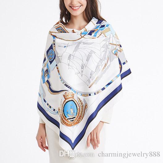 Sciarpe di moda per le donne Large Size Sciarpe e scialli quadrati Wraps Hijab Sciarpe di lusso Pashmina Female Lady's Muffler Neckberchief Headban