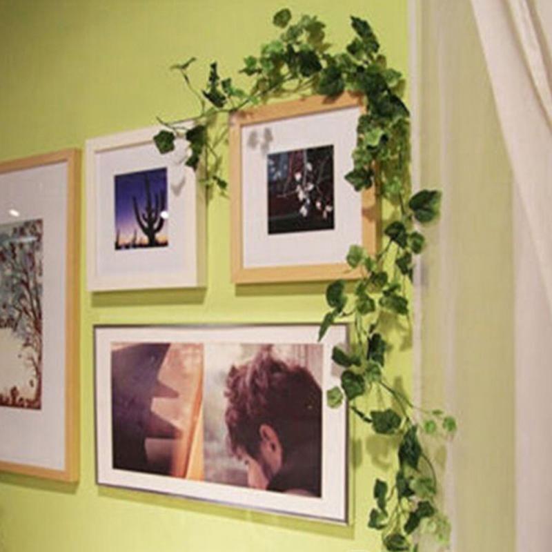 200см Искусственный Ivy Leaf Garland растения Пластиковые зеленый длинный Vine Поддельный Листва цветок Домашний декор Свадебные украшения
