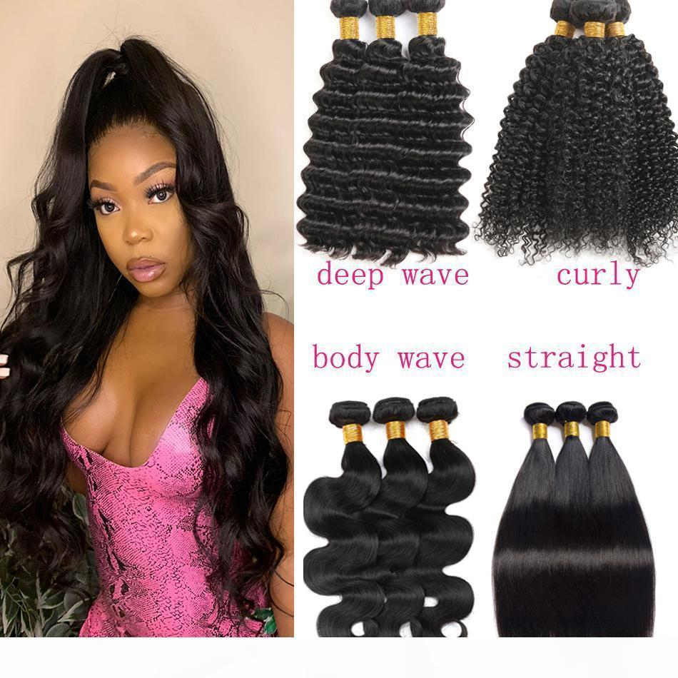 A Brazilian Body Wave Hair Weave Bundles Natural Color 100 %Human Hair Weave 3 Piece 8 -28 &Quot ;Remy Hair Extensions Straight Deep Cu