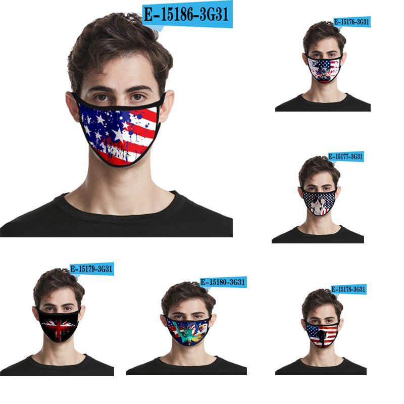 عيد الاستقلال جديد الولايات المتحدة المحيطة 10 أنماط 3D قناع الوجه الأزياء الغبار والدليل على السفر في الهواء الطلق الأساسية قناع مطبوعة الجليد نسيج الحرير