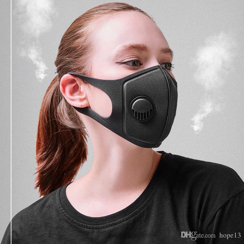 50pcs In Stock! Dustproof Face Mask Breathing Valve Sponge Mask Washable Reusable Anti-Dust Fog PM2.5 Protective Masks