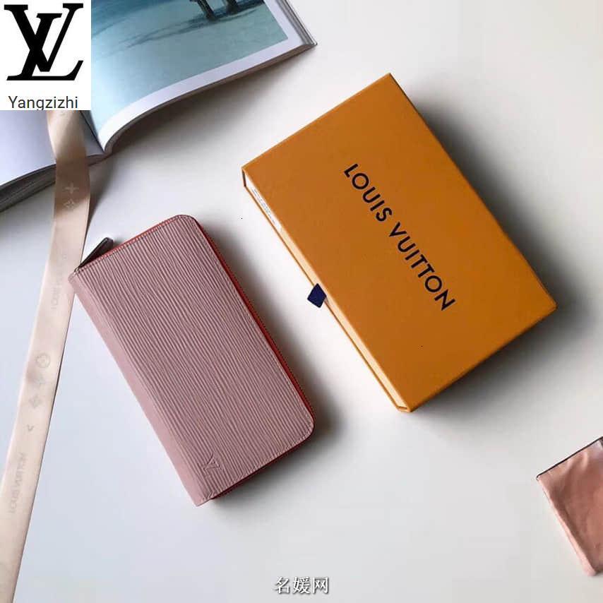 Yangzizhi Yeni Renk Eşleştirme Su Ripple Zippy Fermuar Cüzdan M67266 Uzun Cüzdan Zinciri Cüzdan Kompakt Çanta manşonları Akşam Anahtar