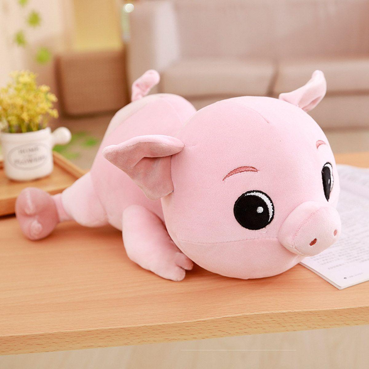 Cute Cartoon Pig Plush Doll Soft Stuffed Animal Pink Piggy Baby Pillow Kids Birthday Gift Home Sofa Room Decor Valentine's Gift