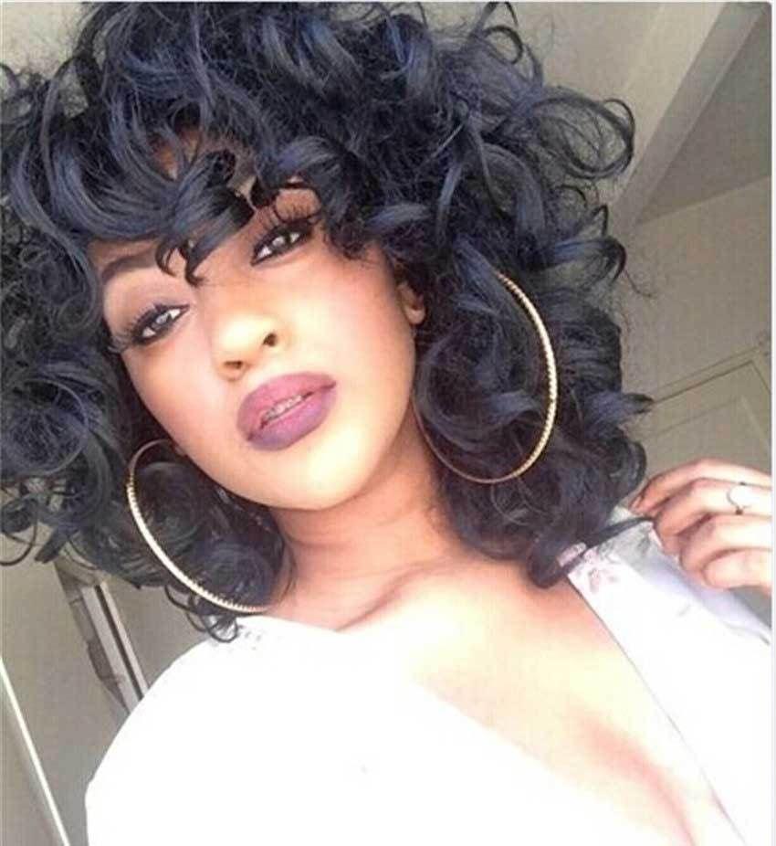 Внешнеторговый парик женский Европейский и американский Африканский черный парик мода длинные вьющиеся волосы Африканский рулон Малая кривизна парики завод