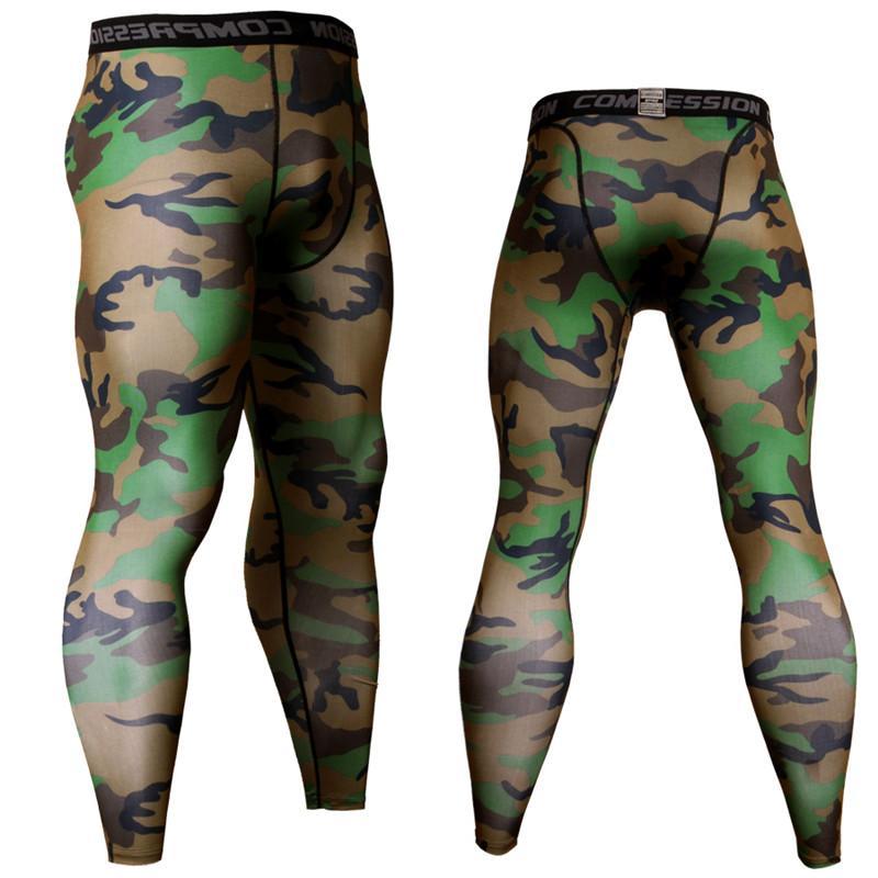Camouflage Compression Hosen-Sport-Tights Männer Jogging Fußball-Training Pants Fitness Leggings Men Gym Bekleidung Hosen