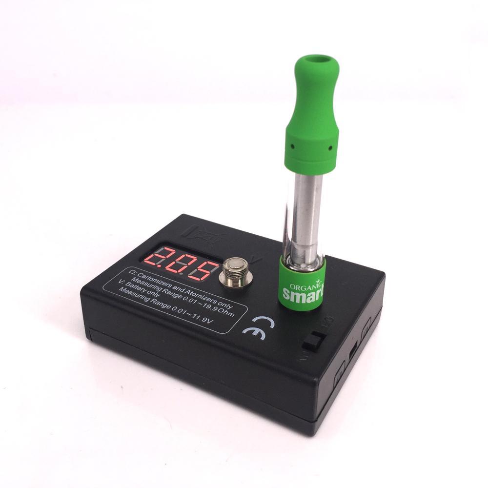 2in1 510 스레드 vape 배터리 전압 측정기 측정 범위 1.01-11.9V 카트리지 Ohm Meter Cartomizers 측정 범위 0.01 ~ 19.9ohm