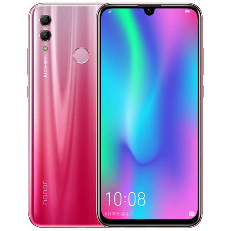 "Original Huawei Honor 10 Lite 4G LTE Cell Phone 4GB RAM 64GB ROM Kirin 710 Octa Core Android 6.21"" 24.0MP Fingerprint ID Smart Mobile Phone"