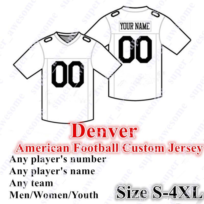 4xl personalizado Denver Jersey Football 5 Flacco 14 Sutton 30 Lindsay 28 Freeman 87 Fant 35 Simmons 45 Johnson 58 Miller 96 Harris Davis Manning