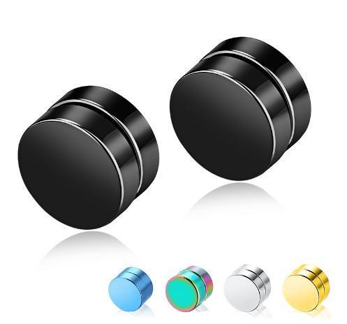 Regalo rotondo orecchini 2020 Hot Vendita Gioielli orecchini magnetici orecchino uomini in acciaio inox maschile Magnete Multicolor
